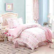 pale pink duvet cover twin girls pink flower heart bed duvet cover sheet pillowcase 100 cotton twin size bedclothes comforter bedding sets home decor 3 or