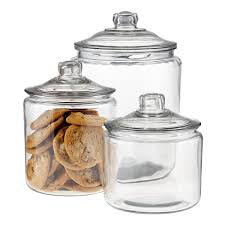 Glass Canisters with Glass Lids ...
