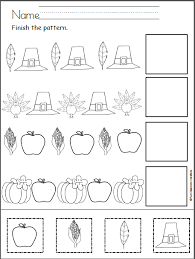 Free preschool cut and paste printable pdf worksheets. Free Thanksgiving Patterns Cut And Paste Madebyteachers