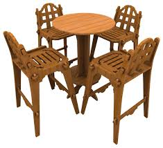 palladian bamboo bar set with chairs and high top table