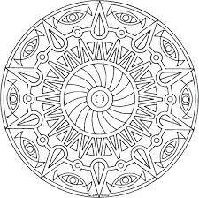 Coloring Mandalas For Kids Simple Mandala Coloring Pages Printable