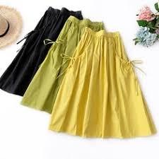 <b>AcFirst Blue Women Skirt</b> Casual High Waist Ankle Length <b>Skirt</b> ...