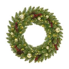 national tree company glittery gold dunhill fir wreath national tree company wreaths u99
