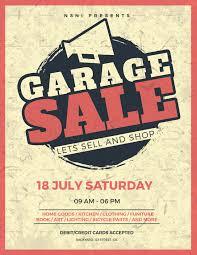 Vintage Garage Sale Flyer Design Template In Psd Word Publisher