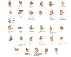 Emoji Meaning Chart And Hand Theres Finally A Good Way To Text In Sign Language Sign