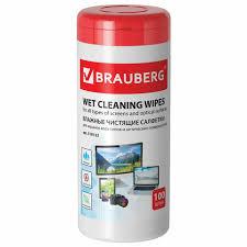 <b>Салфетки</b> для экранов всех типов и оптики <b>BRAUBERG</b>, 13х17 см ...