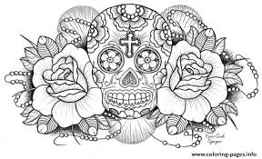Small Picture Very Difficult Sugar Skull For Adults Coloring Pages Printable