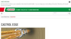 Castrol Oil Chart Access Edgetitaniumtrials Castrol Com Castrol Edge