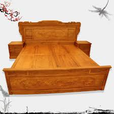 Dongyang Chinese Classical Mahogany Furniture Wood Bedroom Furniture Solid  Wood Bed Wood Bed Ming Rosewood Bed