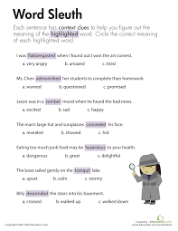 Context Clues Worksheets For Middle School Free Worksheets Library ...