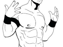 Wwe Coloring Pages Kane John Cena 2017 Printable With Regard To Page