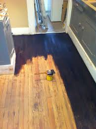 how to refinish hardwood floors part 2 stain and seal a girl can