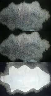leather fur and sheepskin rugs one pelt real rug bedroom gray curly carpet us it mongolian fur rug
