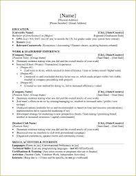 Masters Degree Resume Sample Resume Template For Graduate School