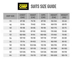 Omp Kart Suit Size Chart Buy Omp One S Race Suit Automobili Lamborghini Collection
