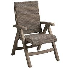 grosfillex java ct406181 wicker resin folding chair taupe frame moccacino weave 2 pack