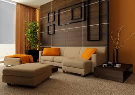 orange living room interior design ideas with carpet Image