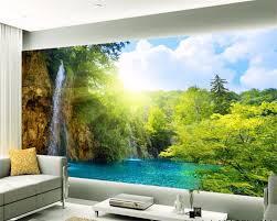 Beibehang Custom Tapete Natur 3d Wasserfall Landschaft Tv