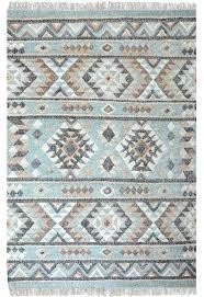 hand woven jute blue rug good wool kilim west elm kite