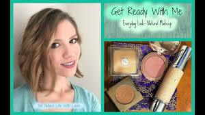 get ready with me everyday look natural healthy makeup tarte 100 pure honeybee gardens