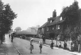 Great Chart Kent England A1 84x59cm Poster Of A Street Scene From 1907 Of Great Chart Ashford Kent Children Playing In The