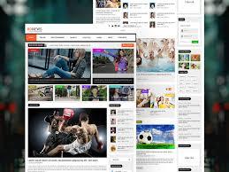 Website Template Newspaper Bdnews Newspaper Website Template Free Psd Template