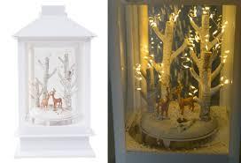 Led Laterne Schneiender Winterwald Weihnachtsdeko Fensterdeko Tanne Rehe Hirsche