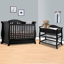 storkcraft espresso vittoria 3 in 1 convertible crib and aspen changing table with drawer 2 piece nursery set free