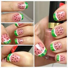 watermelon-nails-nail-art-do-it-yourself-how-to-do-manicure-summer ...