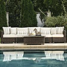 summer outdoor furniture. rustic woven sectional patio furniture by summer classics outdoor y