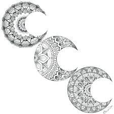 Moon Mandalas Moon Mandala Tattoo Idea Tattoo Inspiration