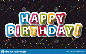 Happy Birthday Background With Confetti And Stars Colorful Vector