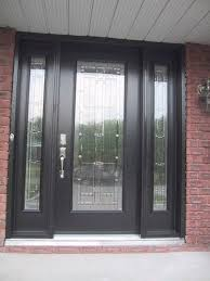 black front door with sidelightsFull Glass Front Entry Door  Home Design Ideas and Inspiration