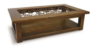 coffee table with jali design coffee