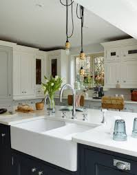 modern country kitchens. Modern Country Kitchen With A Mix Of White And Navy Cabinetry Kitchens S