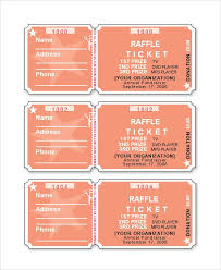 Microsoft Office Templates Tickets Delectable Raffle Ticket Template Word Eid AlFitr 48 Pinte