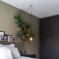 design hanging lamp black 1 light with