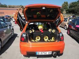 sound system car. car show sound system