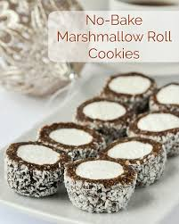 I start my christmas baking in november and they are. Marshmallow Roll Cookies Easy No Bake And Freezer Friendly