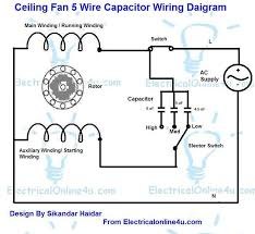 5 wire ceiling fan capacitor wiring diagram electrical online 4u capacitor wiring diagram for 10 hp motor 5 wire ceiling fan capacitor wiring diagram with fan speed controller