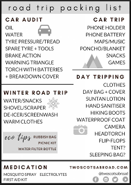 Road Trip Packing List 18 Items That Are Actually Useful Free