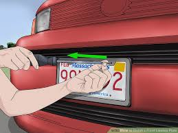 image titled install a front license plate step 1