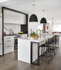 toronto black fridge with rectangular picture frames es contemporary and contrast black stools