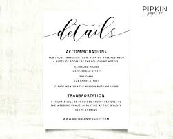 wedding accommodations template information card template information cards template wedding