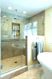 shower half glass wall panel door with showe