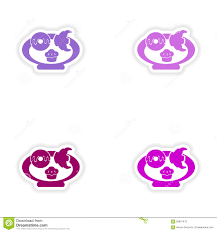 Free Cookies Sticker Design Assembly Realistic Sticker Design On Paper Baking