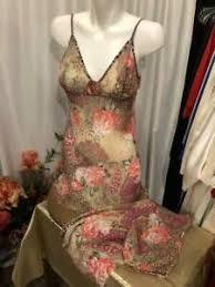 Josie Natori Size Chart Details About Josie Natori 2pc Pajama Set Florall Chiffon Size S 083102