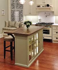 Attractive Kitchen, Grey Square Contemporary Wooden Kitchen Islands For Small Spaces  Varnished Ideas For Small Kitchen Awesome Design