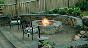 Patio Ideas Gas Fire Pit Stone With Then Outdoor Amusing Picture