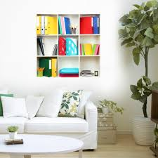 d riding bookshelf wall decals pag removable wall art grid